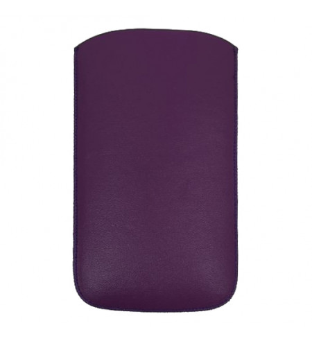 Koženková vsuvka NUVO Apple iPhone 5/5S/SE, fialová