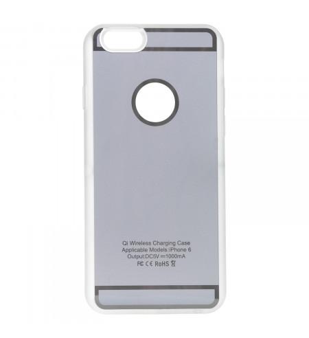 NUVO kryt pre bezdrôtové nabíjanie pre Apple iPhone 6, strieborný