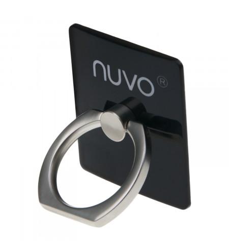 NUVO prsteň s držiakom na mobil čierny