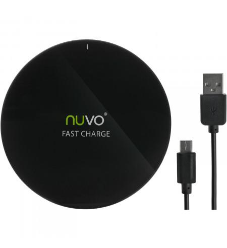 NUVO SLIM fast charge bezdrôtová nabíjačka, čierna