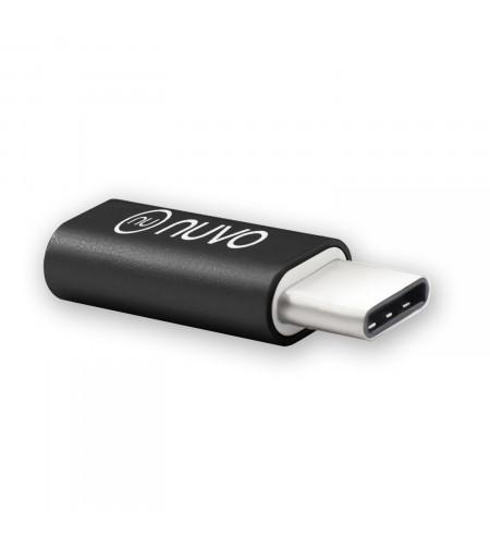 NUVO adaptér z micro USB na USB Type C, čierny