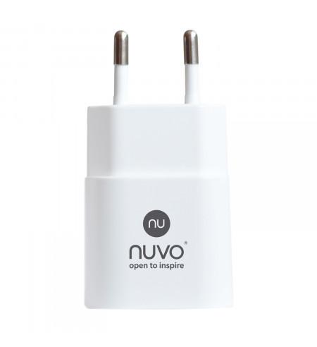 NUVO sieťový USB adaptér, 1A, biely
