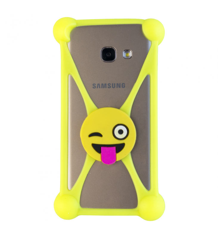 Universal TPU Rubber Cover for mobile phones, emoji smile