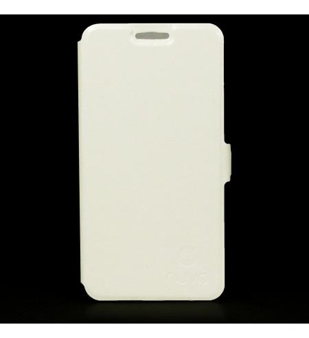 Flipové puzdro NUVO pre Samsung Galaxy S5 Mini, biele