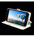 Flipové puzdro NUVO pre Samsung Galaxy Young 2, biele