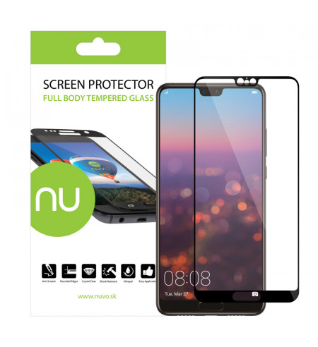 Ochranné sklo NUVO pre Huawei P20, čierne