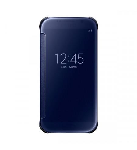 Samsung Clear View Cover pre Galaxy S6, tmavo modrý