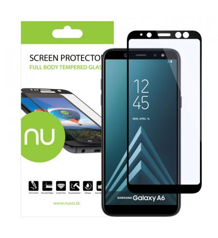 Ochranné sklo NUVO pre Samsung Galaxy A6, čierne