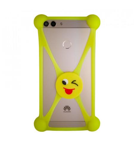 Univerzálne silikónové puzdro pre smartfóny emoji tongue