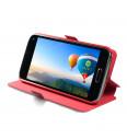Flipové puzdro NUVO pre Apple iPhone 5/5S/SE, červené